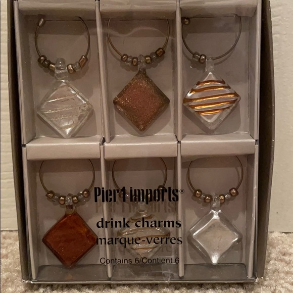Pier 1 drink charms (6) - never used/opened